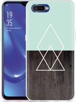 Oppo RX17 Neo Hoesje Wood Simplicity