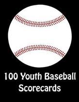 100 Youth Baseball Scorecards