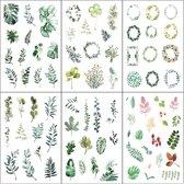 Set van 6 Stickervellen Green Leafs | Stickers Groene Blaadjes