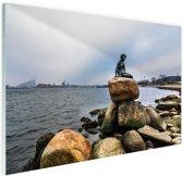 FotoCadeau.nl - De kleine zeemeermin Kopenhagen Glas 90x60 cm - Foto print op Glas (Plexiglas wanddecoratie)