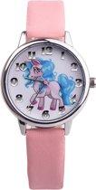 Fako Bijoux® - Kinderhorloge - Eenhoorn - Unicorn - Soft - Roze