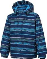 Color Kids Dartwin Padded Wintersportjas - Maat 152  - Unisex - donker blauw/ blauw/ groen