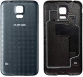 voor Samsung Galaxy S5 SM-G900 batterij cover -achterkant - zwart