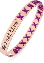 We Positive™ Cross Rose Gold Purple FR007F