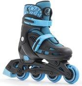 SFR Spirit Verstelbare Inline Skate Junior  Inlineskates - Maat 35-40 - Unisex - zwart/blauw Maat 35.5-39.5