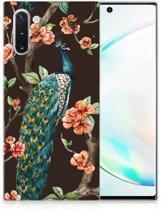 Samsung Galaxy Note 10 TPU Hoesje Pauw met Bloemen