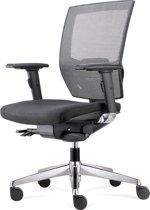 BenS 807CB Synchro3 bureaustoel – Ergonomisch – Aluminium zwart