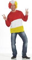 Carnaval Sweater rood-wit-geel - Carnavalskleding