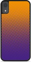iPhone Xr Hardcase hoesje oranje paarse cirkels