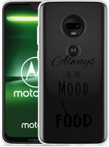 Moto G7 Hoesje Mood for Food Black