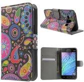 Samsung Galaxy J1 Fashion wallet agenda hoesje