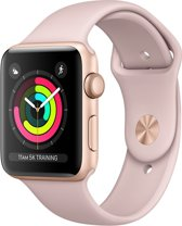 Apple Watch Series 3 - Smartwatch 38mm - Goudkleurig Aluminium / Roze Sportband