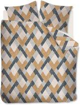 Beddinghouse Montero - Flanel - Dekbedovertrek - Eenpersoons - 140x200/220 cm + 1 kussensloop 60x70 cm - Ocre