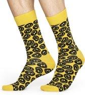 Happy Socks Twisted Smile Sokken - Geel/Zwart - Maat 41-46