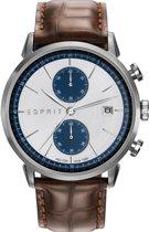 Esprit ES109181001 - Horloge - Leer - 45 mm - Bruin