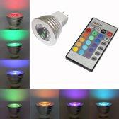 Dolphix - MR16 / GU5.3 RGB LED-spot met afstandsbediening – 3 Watt - Dimbaar