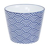 Tokyo Design Studio Nippon Blue Cup 8.3x6.5cm 180ml Wave