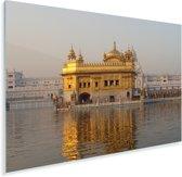 De Gouden Tempel in India Plexiglas 120x80 cm - Foto print op Glas (Plexiglas wanddecoratie)