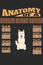 Anatomy Of A Berger Blanc Suisse: Anatomy Of A White Swiss Shepherd Dog Notebook Journal 6x9 Personalized Customized Gift For Berger Blanc Suisse Mom