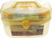 Eddy Toys knutselkist geel 23 x 13 15 cm 127-delig