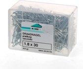 Hoenderdaal Draadnagel plat geruite kop gegalvaniseerd 1.8 x 30mm 350 gram (Prijs per 2 dozen)