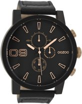OOZOO Timepieces Zwart horloge  (50 mm) - Zwart