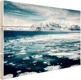 Uitzicht gletsjer Hout 120x80 cm - Foto print op Hout (Wanddecoratie)