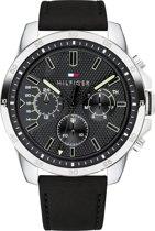 Tommy Hilfiger TH1791563 Horloge - Leer - Zwart - Ø 46 mm
