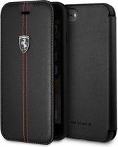 Ferrari Leren Boekmodel iPhone 8 / 7 / 6S / 6 - Zwart