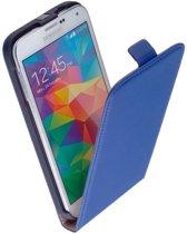 Samsung Galaxy S6 Leder Flip Case Blauw