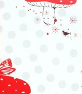 Onszelf Baby behang grote stip/paddenstoel rood