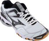 Mizuno Wave Bolt 3 indoorschoen Sportschoenen - Maat 46.5 - Unisex - wit/zwart/zilver