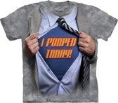 T-Shirt - Super Pooper (Maat: XXL)