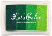 LeuksteWinkeltje Stempelkussen Groen 8 x 5 cm - verlopende kleur