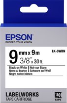 Epson Standard Tape - LK-3WBN Std Blk/Wht 9/9