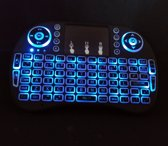 Draadloos mini toetsenbord met Multi Touchpad - RGB Backlight - Oplaadbare accu   Doksi   Nieuwe generatie
