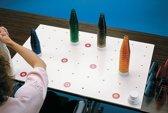 Kegeloefening 30 transparante kegels in 6 kleuren + wit oefenbordje