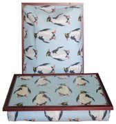 Margot Steel laptray/schoottafel Pinguin - 41 x 31 10 cm