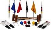 Meester Croquet set, 4 persoons, 16 mm stalen poorten, kunststof ballen, club-kwaliteit-Zonder opberg-item