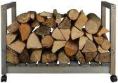 Esschert Design Houtopslag verrijdbare trolly + opslag - 0,1 m³ hout