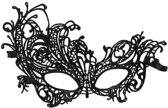 Dier Vlinder Halloween kanten oog masker zwart - Victoriaans gothic metal party kostuum - Attitude Holland