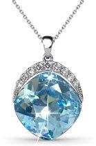 Yolora Ketting Swarovski Kristallen Blauw - ketting met hanger - dames - YO-167