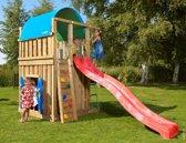 Jungle Gym – Villa Playhouse 145 - Speeltoren - Met Glijbaan - Rood