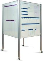 CUBE staanders 200cm + 4x visual management bord 90x120cm