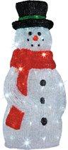 Verlichte sneeuwpop voor buiten 120 cm