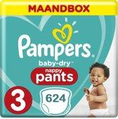 Pampers Baby-Dry Pants Luierbroekjes - Maat 3 (6-11kg) - Kwartaalbox 624 stuks