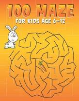 100 Maze For kids age 6-12: A Maze Activity Books for Kids 6-12, This is great for developing problem solving skills and critical thinking skills