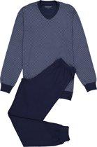 Schiesser heren pyjama - blauw geruit -  Maat XL