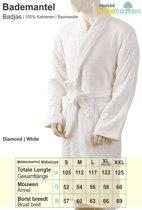Homéé - Badjas shawlkraag badstof  400g. p/m2 |Wit - M (Valt groot uit)