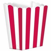 Popcorn bakjes rood 5 stuks